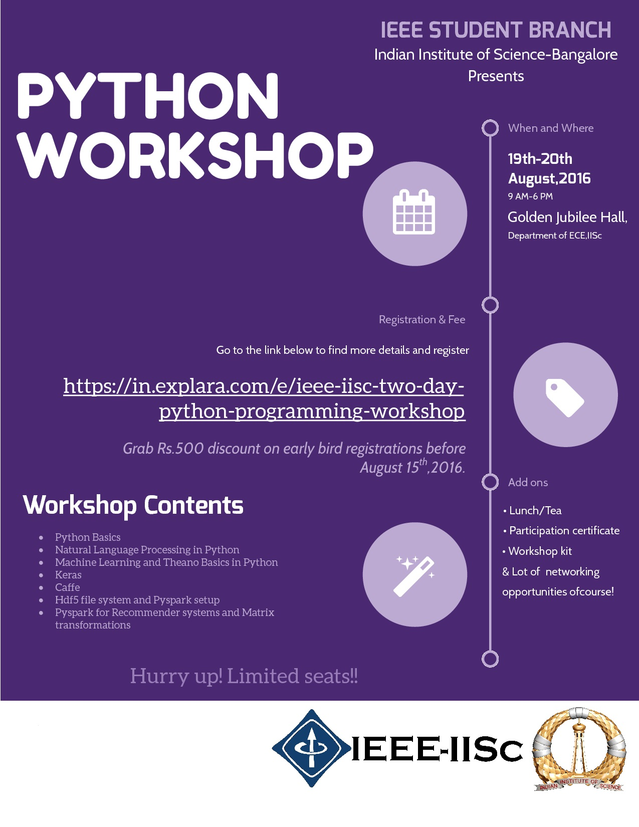 Python Workshop Flyer, IISc